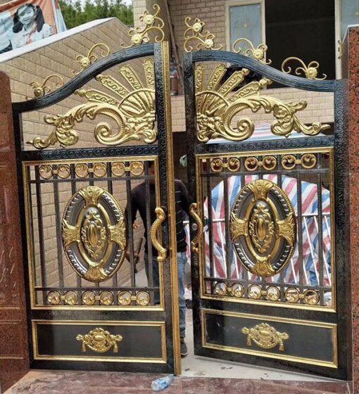 cổng inox mạ màu đẹp 50