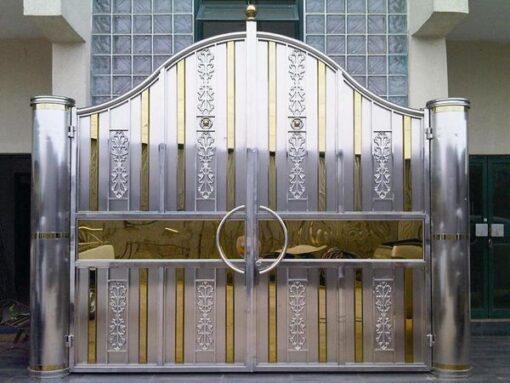 cổng inox mạ màu đẹp 51