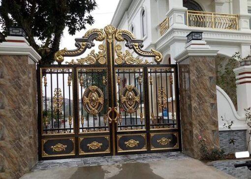 cổng inox mạ màu đẹp 6