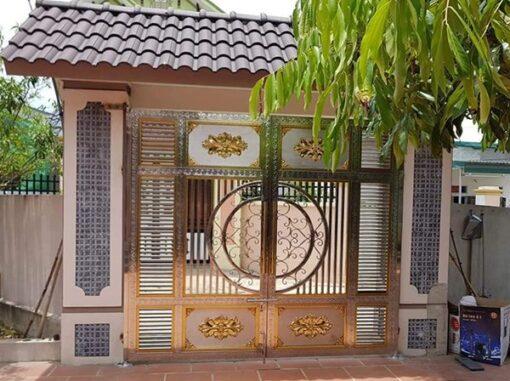 cổng inox mạ màu đẹp 7